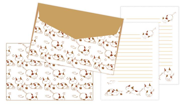 封筒と便箋の無料テンプレート封筒素材館